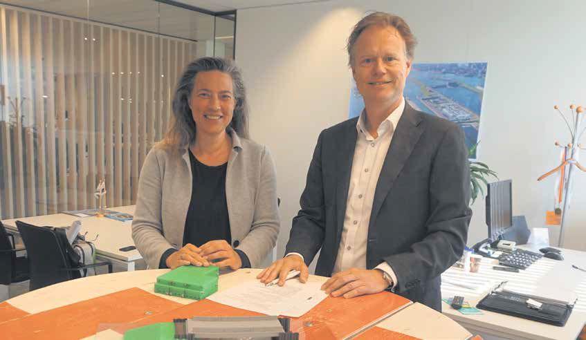 Projectleider Esther van Eijk en directeur Wilfrith van der Meer